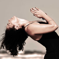 Image of woman in yoga pose